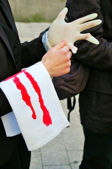 Action anti foie gras — Angers — 19 décembre 2015